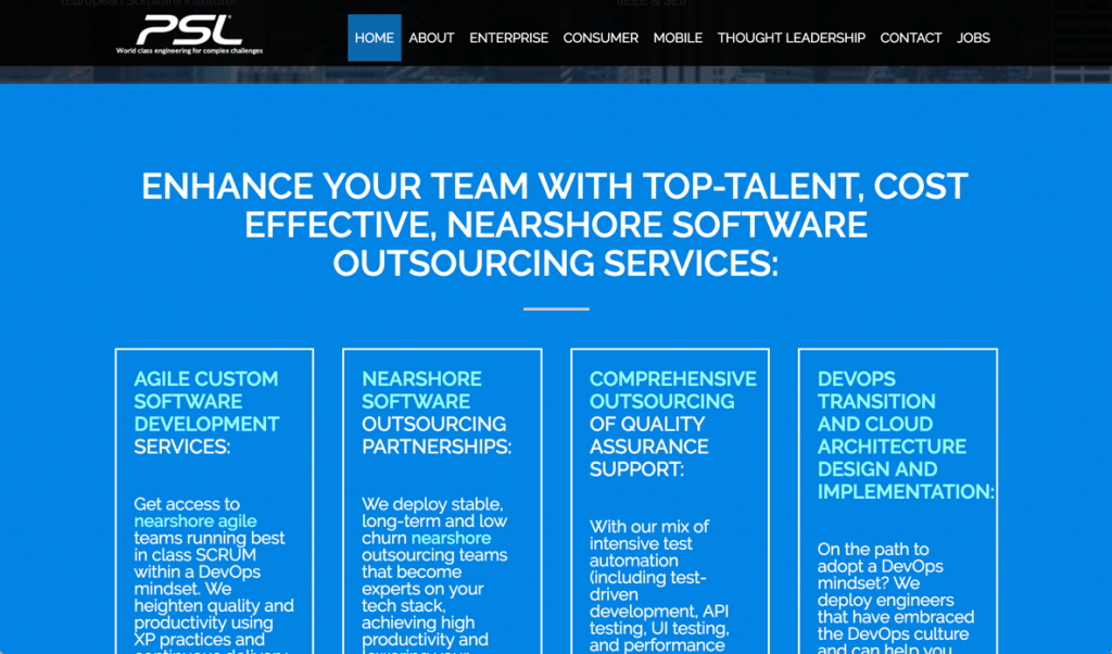 offshore software development - psl corp